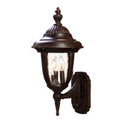 Acclaim Lighting - Outdoor Lighting. Monterey Collection Wall-Mount 3-Light Outdoor Black Coral Lig - Shop for Lighting & Fans at The Home Depot. The Monterey collection 3-light wall lantern is made of durable cast aluminum. The globe is clear seeded glass. This lantern design will compliment many different architectural styles.