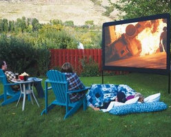 """Camp Chef Outdoor Movie Screen - Is she a movie buff? Does she know every line to """"Gone with the Wind"""" and """"Sleepless in Seattle?"""" Well, why not hold a movie screening of her favorites on a big screen outside?"""