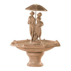 Springtime Fountain with Octagon Bowl, Escoboza - The Springtime Fountain is an attractive piece of work that will surely enhance the aesthetic value of your outside setting or garden. It's hand made with durable cast stone by professional artists to make this elegant fountain fine in every aspect. With the Springtime Fountain, you will capture the attention of your visitors and enjoy a more serene environment because of the peaceful running water sound it creates.
