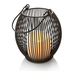 Colin Cowie Outdoor Lantern with Flameless Candle, Small - I love this lantern. I might have to get a few for my backyard.