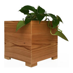NMN Designs - Mod Cedar Planter, Large - Constructed in the U.S.A. from 100% American Cedar and recycled plastic lumber, as eco-friendly as it is stunning. High grade cedar provides a gorgeous, natural finish which plays beautifully against the sleek, modern design of the planter. The bottom panel composed of recycled plastic to avoid leaks, warps and splits. Drainage hole on bottom. Indoor and outdoor friendly.