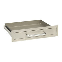 Bull Stainless Steel Built-In Drawer - As an aspiring grill-master, you've probably acquired lots of gadgets and utensils that you'd like to keep handy. Instead of letting them clutter the top of your grill station, get yourself a Bull Stainless Steel Built-In Drawer. Neatly stow all that equipment in a drawer made for outdoor use. Made of durable brushed stainless steel, this drawer measures 25L x 20W x 6H inches - plenty big enough to hold all of your grilling gear.About Bull Outdoor ProductsBull Outdoor Products will change the way you barbecue. The award-winning grills and grill accessories are designed, engineered, and master-crafted with the finest materials available. All Bull Stainless Steel products are approved by the National Sanitation Foundation, which allows residential customers to cook on commercial-quality grills. Bull Outdoor Products Inc. pioneered the concept of outdoor barbecue islands, recognizing the need for backyard barbecue enthusiasts to bring their grilling talents to match those of professional chefs.