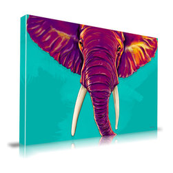Maxwell Dickson - Maxwell Dickson Canvas ELEPHANT IN THE ROOM, 16x20 - Maxwell Dickson utilizes the highest standards when it comes to the printmaking process. All prints are designed, printed and manufactured in-house at their Downtown Los Angeles facility. All canvas is 100% archival museum quality, and will last more than 200 years without fading. All ink is 100% water-based and does not contain any gasses or chemical compounds that are harmful to the environment or to humans.