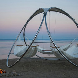 Infinity Group Hammock With Hand-Quilted Hammocks by Trinity Hammocks - The Infinity hammock is mega bucks — I mean, mega. But it would also make you the envy of, well, everyone. My only question is, does the ocean view come with it?