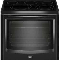 Maytag - MER8680BB 6.2 cu. ft. Whole Meal Cooking Capacity Freestanding Electric Range Wi - The MER8680B electric range comes with 2 l-Choice cooktop elements for pan size flexibility The 62 cu ft capacity oven will let you cook anything from everyday meals to large family feasts
