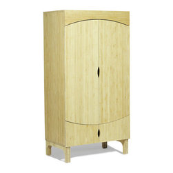 Argington Bam Bamboo Wardrobe - An armoire is a beautiful and practical way to store children's clothes and toys. I've used a classic barn wood armoire for my two children, and have loved how simply and beautifully it hides away the stuff. This natural bamboo armoire will eliminate the need for a clutter of furniture.