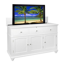 Import Advantage - Coastal Creations Lift Top TV Cabinet - Radio frequency remote control. Built ...