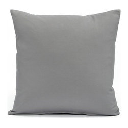 """Blooming Home Decor - Solid Stone Gray Accent / Throw Pillow Cover, 16""""x16"""" - (Available in 16""""x16"""", 18""""x18"""", 20""""x20"""", 24""""x24"""", 26""""x26"""", 12""""x20"""", 20""""x54"""")"""