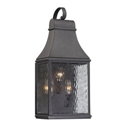 Elk Lighting - EL-47072/3 Forged Jefferson 3-Light Outdoor Sconce in Charcoal - Forged Jefferson Collection 3 light outdoor sconce in charcoal