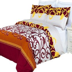 Bed Linens - Mission Printed Multi-Piece Duvet Set King/California King 3PC Duvet Set - Enjoy the comfort and Softness of 100% Egyptian cotton bedding with 300 Thread count fiber reactive prints.*100% Egyptian cotton *300 Thread count *Reactive Print, lasts longer and looks like real live pictures .