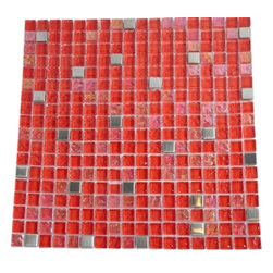 "Hell's Kitchen Blend Squares Glass & Metal Tiles - sample- HELL'S KITCHEN BLEND SQUARES 1/2"" X 1/2"" GLASS TILES 1/4 SHEET SAMPLE You are purchasing a 1/4 sheet sample measuring approximately 6"" x 6"". Samples are intended for color comparison purposes, not installation purposes. -Glass Tiles -"