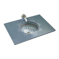 KOHLER - KOHLER K-14031-BU-96 Marrakesh Design on Vitreous Countertop with Single-Hole Fa - KOHLER K-14031-BU-96 Marrakesh Design on Vitreous Countertop with Single-Hole Faucet DrillingNamed for the ancient capital of Morocco, Marrakesh was inspired by Moorish architecture found in this magical city that once served as a stop along a major trade route to the famous Timbuktu.  Specifically, Marrakesh's top found inspiration from mosaics found in a quaint Moroccan courtyard, while the intricate and abstract floral pattern that embellishes the lavatory basin was inspired by artwork found in mosques.KOHLER K-14031-BU-96 Marrakesh Design on Vitreous Countertop with Single-Hole Faucet Drilling, Features:• Contructed of vitreous china
