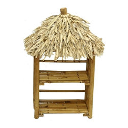 "Bamboo54 - Bamboo Mini Thatched Rack - Cute little bamboo thatched rack is suitable for CD's as well as spices or anything else you can think of. Measures 19"" H x 6"" D x 10.25"" W."