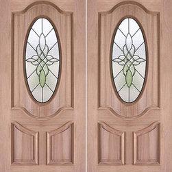 """Decorative Oval Lite, Prehung Mahogany Double Entry Door, 72""""x80"""" - SKU#PL-57_2BrandAAWDoor TypeExteriorManufacturer CollectionBudget DoorsDoor ModelDoor MaterialWoodgrainVeneerPrice1740Door Size Options2(36"""") x 80"""" (6'-0"""" x 6'-8"""")  $0Core TypeDoor StyleDoor Lite StyleOval LiteDoor Panel Style2 Panel , Arch Panel , Raised MouldingHome Style MatchingBay and Gable , Bungalow , Elizabethan , Plantation , VictorianDoor ConstructionEngineered Stiles and RailsPrehanging OptionsPrehungPrehung ConfigurationDouble DoorDoor Thickness (Inches)1.75Glass Thickness (Inches)3/4Glass TypeTriple GlazedGlass CamingBlackGlass FeaturesTempered , InsulatedGlass StyleGlass TextureGlass ObscurityDoor FeaturesDoor ApprovalsDoor FinishesDoor AccessoriesWeight (lbs)850Crating Size25"""" (w)x 108"""" (l)x 52"""" (h)Lead TimeSlab Doors: 7 daysPrehung:14 daysPrefinished, PreHung:21 daysWarranty"""