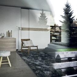 "Custom Made Closets with Sliding Doors - Contemporary closet with ""Class"" sliding doors from Novamobili."