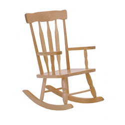 """Steffywood - Steffywood Kids Toddler Colonial Wooden Rocking Child's Rocker Chair With Arms - Early American style rocker has turned spindles and is constructed of solid maple. Seat height is 10"""" from floor and the total height of rocker is 23"""". Ships fully assembled.Solid maple construction. Non toxic environmentally safe durable clear finish. Ships completely assembled. GreenGuard Certified."""