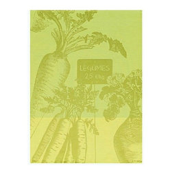 """Le Jacquard Francais - Le Jacquard Francais Marche Legumes Fennel Tea / Kitchen Towel 24 x 31 """" - A fun, happy, light-hearted style, decidedly anit-crisis. Marche Fleurs is an ode to flowers and their d_cor. Damask fabric. 100% Pure cotton colored warp and weft."""