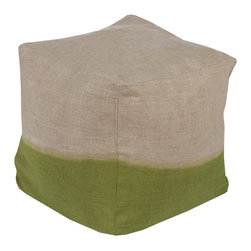 Dip Dyed Pouf - Take a seat and remember that life is full of layers, just like this adorable linen pouf.
