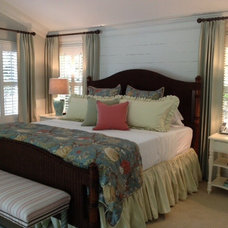 Farmhouse Bedroom by Daniel DeSantis Interiors