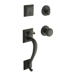 Baldwin Hardware - Madison Double Cylinder Handleset with Classic Knob in Oil-Rubbed Bronze - Feel the difference - Baldwin hardware is solid throughout, with a 60 year legacy of superior style and quality. Baldwin is the choice for an elegant and secure presence.