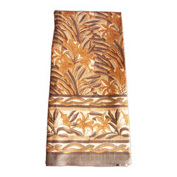 """Anokhi - Hand Block Printed Tablecloth - 60"""" x 90"""" - Dress up the table for any occasion with this great hand block printed tablecloth. . Made of substantial weight 100% cotton."""