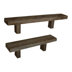 Rustic Wall Shelves - Great pair of reclaimed wood wall shelves, perfect rustic touch to the home office.