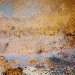Mexican Seawall 1, Limited Edition, Photograph - It will be a moment before observers of this print will recognize it as an image of a seawall on a Mexican beach. Actually, chances are no one will know it's a seawall, but they will admire the gold tones and depth when seeing it on your wall.
