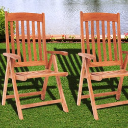 International Home Miami - Amazonia Teak Belfast Position Patio Chairs - Great Quality  elegant design patio set  made of 100% high quality Teak wood. Enjoy your patio with style with these great sets from our Amazonia Teak outdoor collection