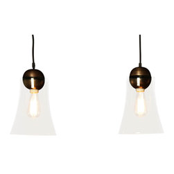 BoBo's Intriguing Objects - Belle Pendant - To you, light ideally means softness and warmth. That's the vibe you'll bring with this simple fixture — a glass bell wedded to the glow of copper and bronze. Hang it anywhere you want to evoke a gently intimate mood.