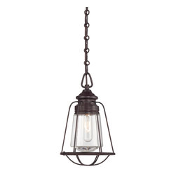 Savoy House - Savoy House 7-5060-1-13 Vintage Mini Pendant - These sleek Savoy House mini pendants are vintage inspired with metal shades and cages.  Available in English Bronze and Satin Nickel.