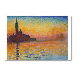 "PosterEnvy - ""San Giorgio Maggiore at Dusk"" by Claude Monet (1908 - 1912) - NEW Art POSTER - 12"" x 18"" ""San Giorgio Maggiore at Dusk"" by Claude Monet (1908 - 1912) - NEW Art POSTER on heavy duty, durable 80lb Satin paper"