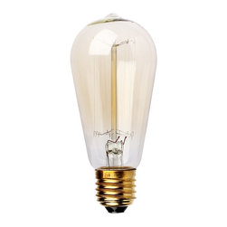 ParrotUncle - ST58SN Straight Filament 40W Light Bulbs - Enjoy a touch of period home ambiance with one of our vintage Edison bulbs. Its diamond filament and slight tint creates a warm and welcoming glow that provides authenticity to any sophisticated interior.Faithfully recreated from historic designs, these light bulbs look great in any exposed light socket such as chandeliers, sconces or socket pendants. Brass E26/E27 screw base with clear glass bulb will assure them a 3000 hours average service life.