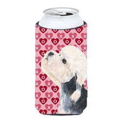 Caroline's Treasures - Dandie Dinmont Terrier Hearts Love Valentine's Day Tall Boy Koozie Hugger - Dandie Dinmont Terrier Hearts Love Valentine's Day Tall Boy Koozie Hugger Fits 22 oz. to 24 oz. cans or pint bottles. Great collapsible koozie for Energy Drinks or large Iced Tea beverages. Great to keep track of your beverage and add a bit of flair to a gathering. Match with one of the insulated coolers or coasters for a nice gift pack. Wash the hugger in your dishwasher or clothes washer. Design will not come off.