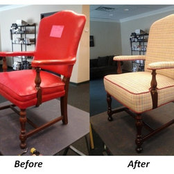 Special Little Lady - A beautiful chair that needed a little updating!
