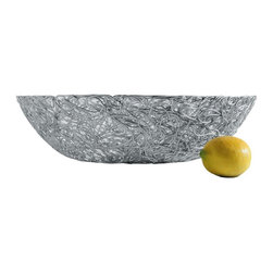"Alessi - Alessi ""Nuvem"" Centerpiece - In the age of wireless, this large centerpiece bowl is bringing back the wires in high style. Strands of anodized aluminum are wound into a great place to store your fruit, show off your decorative items, or just plug into its modern beauty."