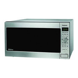 None - Panasonic Genius Prestige NN-SD962S Microwave Oven - Add versatility to your kitchen with this Panasonic microwave oven. This freestanding microwave oven has several pre-set cooking programs and features a black-framed door and a stainless steel front for a sleek and contemporary look.