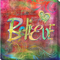 None - Connie Haley 'Believe' Canvas Giclee Art - Artist: Connie Haley Title: BelieveProduct type: Gallery-wrapped giclee art