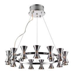 Iberlamp - Iberlamp C308-15 Kim 15 Light 1 Tier Chandelier - Features: