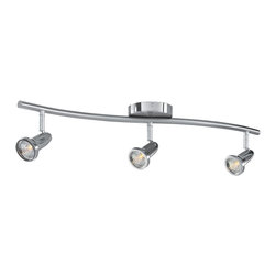 Access Lighting - Access Lighting Cobra Contemporary Ceiling SpotLight X-SB-30225 - Decorate with a piece unlike any other with this Access Lighting Cobra contemporary ceiling light. It's a great piece for a residential or commercial space, with its sleek, curvy frame and three heads in a shiny, brushed nickel finish. This stylish fixture has a minimalist look and feel and is sure to provide you with just the right amount of light you need.