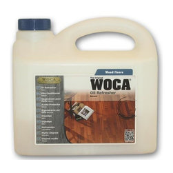 Woca DenMark - WOCA Oil Refresher Natural 2.5 Liter - Oil Refresher is an oil/soap combination used for regular cleaning and maintenance of oiled wood floors. Oil Refresher, available in natural and white, combines efficient cleaning with re-oiling as additional oil penetrates into the wood, forming a protective layer within the surface of the floor. This means longer wear before re-oiling. Oil Refresher should not be used more than four times per year as this may create unwanted build-up. Floors requiring more frequent cleaning should be cleaned with WOCA Soap (Master Soap for commercial areas) with intermittent use of Oil Refresher up to four times per year.