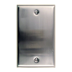Rusticware - 780 Single Blank Switchplate - Satin Nickel - This Satin Nickel lighted door button is a stylish piece of hardware that will add to the decor of any room in your home.