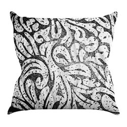 """Kess InHouse - Caleb Troy """"Black and White Paisley"""" Throw Pillow (18"""" x 18"""") - Rest among the art you love. Transform your hang out room into a hip gallery, that's also comfortable. With this pillow you can create an environment that reflects your unique style. It's amazing what a throw pillow can do to complete a room. (Kess InHouse is not responsible for pillow fighting that may occur as the result of creative stimulation)."""