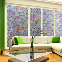 Colorfulhall - Modern Window Film - Instruction: