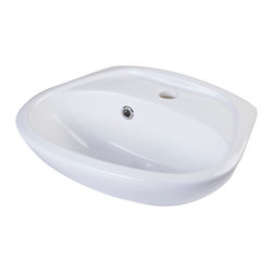 ALFI - ALFI White Small Porcelain Wall Mount Basin with Overflow - A simple small porcelain wall mounted bathroom sink is sometimes harder to find than you might think. This model has been selling very well due to its small size and convenient shape. Perfect for those small bathrooms or powder rooms.