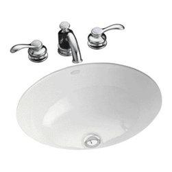 """KOHLER - KOHLER K-2205-0 Caxton 17"""" x 14"""" Undermount Bathroom Sink - KOHLER K-2205-0 Caxton 17"""" x 14"""" Undermount Bathroom Sink in White"""