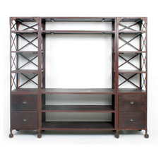 Eclectic Media Storage by Iron Accents
