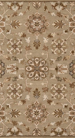 """Loloi Rugs - Loloi Rugs Ashford Collection - Khaki / Multi, 7'-6"""" x 9'-6"""" - A classic beauty re-imagined for today, hand-tufted Ashford harnesses the timeless elegance of historically rich floral rug patterns, but updates them with an incredibly calming palette. The loop and pile texture adds depth and visual interest to these rugs, which are handmade in India of 100% wool."""