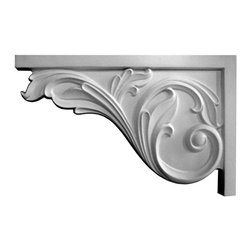 "Inviting Home - Priscella Stair Brackets (large) - Left - Large Priscella stair bracket (left) 7-7/8""H x 11-3/4""W x 3/4""D This stair bracket is made from polyurethane - a perfect material for interior as well as exterior application. This stair bracket gives you the look of plaster but the durability and light weight of the high quality material it is made from makes the installation quick and easy. Stair bracket is made from a furniture grade polyurethane from hand cast molds and comes primed ready for paint. The stair bracket is available in a left or right orientation to suite any staircase. Be sure to specify LEFT or RIGHT stair brackets when you place your order. An easy reminder: right brackets point to the right and left brackets point to the left"