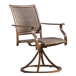 Panama Jack Island Cove Woven Swivel Armchair, Set of 2