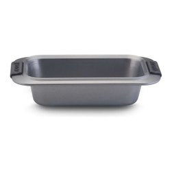 Anolon - Anolon Advanced 9 x 5 Inch Nonstick Loaf Pan - A commonly requested size in recipes for yeast breads, quick breads, and pound cakes, this 9-inch by 5-inch loaf pan is also standard to many meat loaf recipes. - Weight: 1.1 lbs.